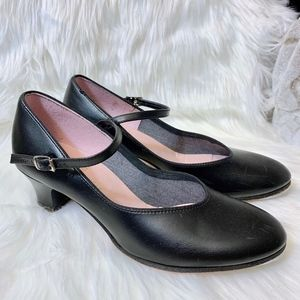 Capezio Mary Jane Leather Heeled Tap Shoes 7.5